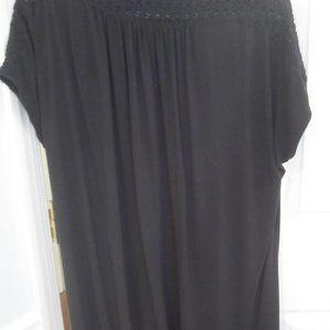 J. Jill Wearever Black Cap Sleeve Top Size XL
